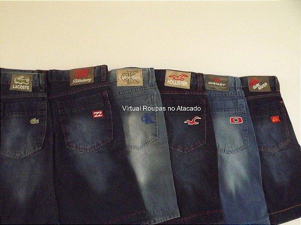 24 Peças - Bermudas Jeans Masculinas ** 36 ao 46