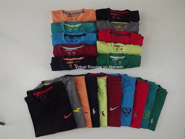 20 Camisetas Deluxe marcas variadas - FRETE GRÁTIS