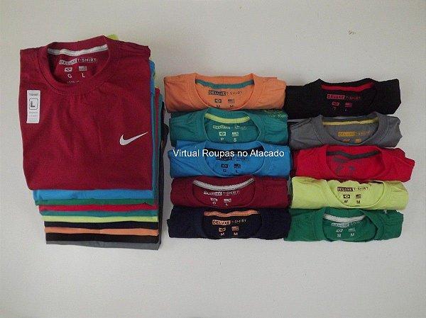 Kit 05 Camisetas Deluxe marcas variadas