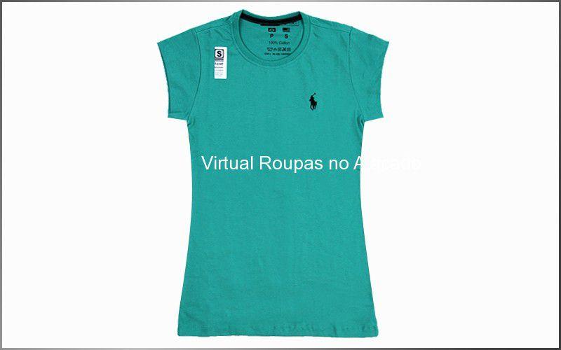 Camiseta Deluxe Feminina 5 Unidades