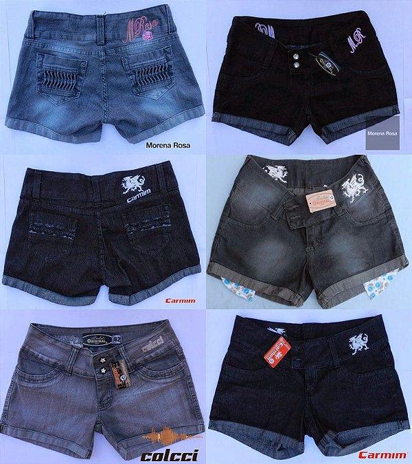 Bermuda Jeans Feminina - Kit 6 Peças