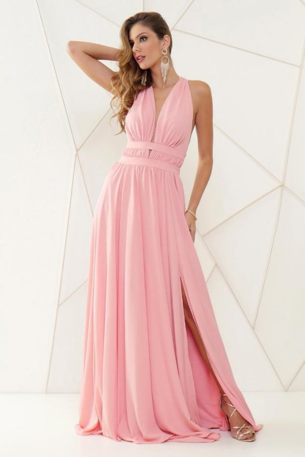 Vestido De Festa Longo Rosa Mariah Aluguel
