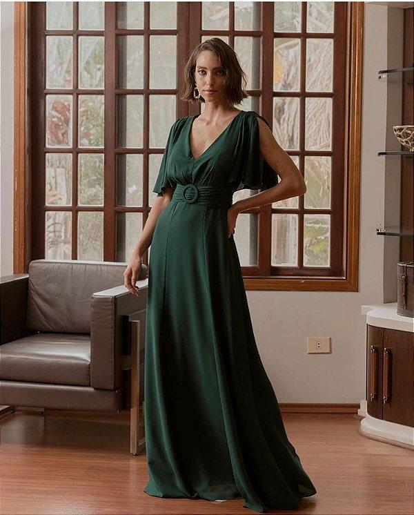 Vestido De Festa Longo Verde Maristela Aluguel