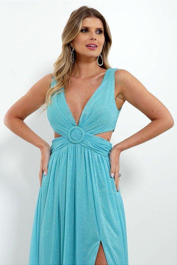Vestido De Festa Longo Lurex Tiffany Lorena Aluguel