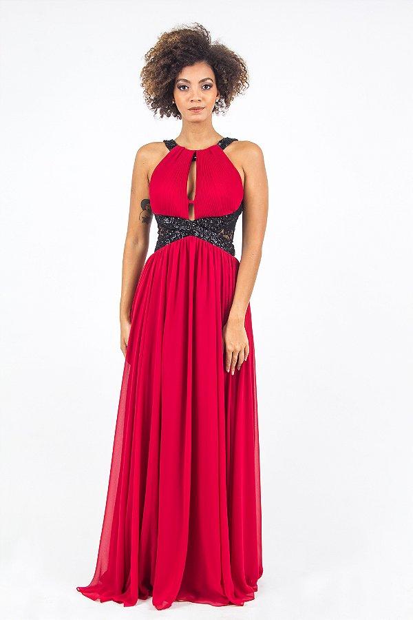 Vestido Vermelho Longo Catarina