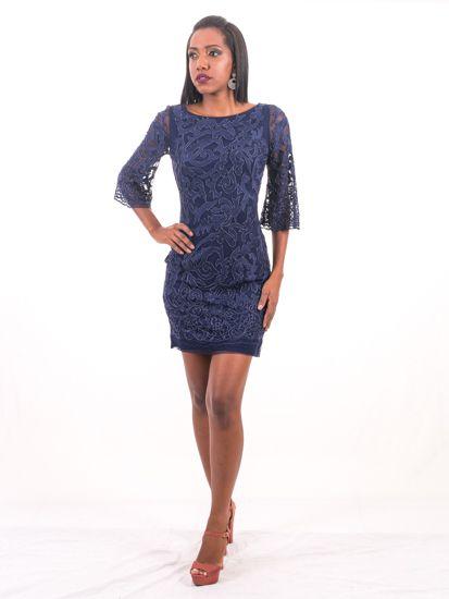 5793-Vestido Azul Curto Nice