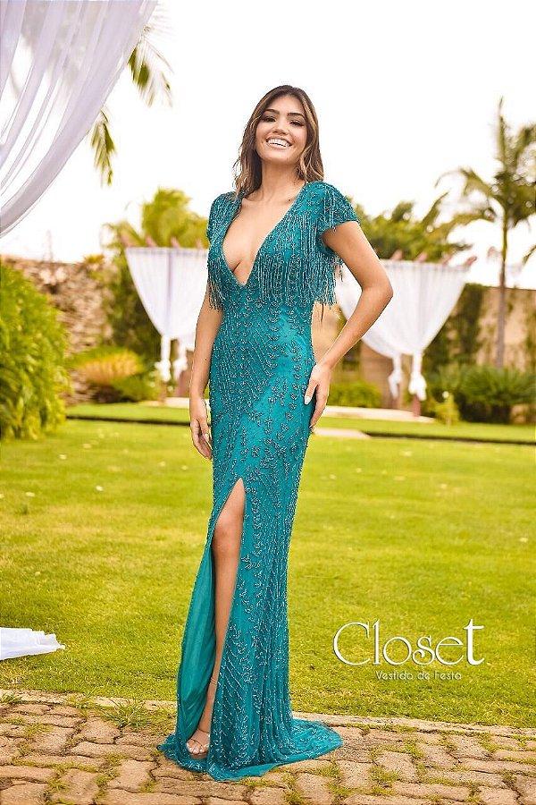 Vestido de Festa Longo Celine Tiffany Aluguel