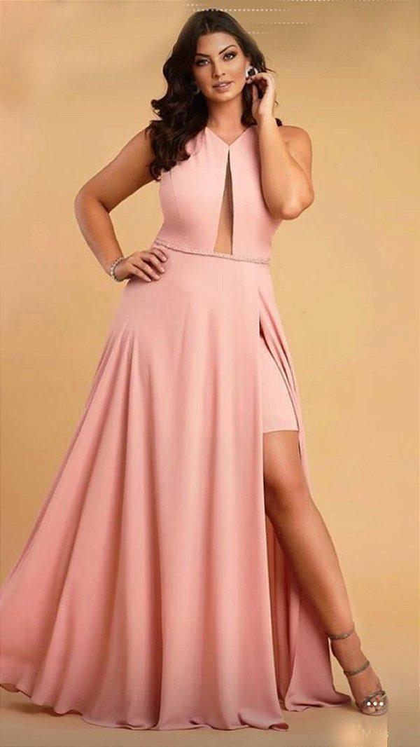 5861-Vestido Rose Longo Liana