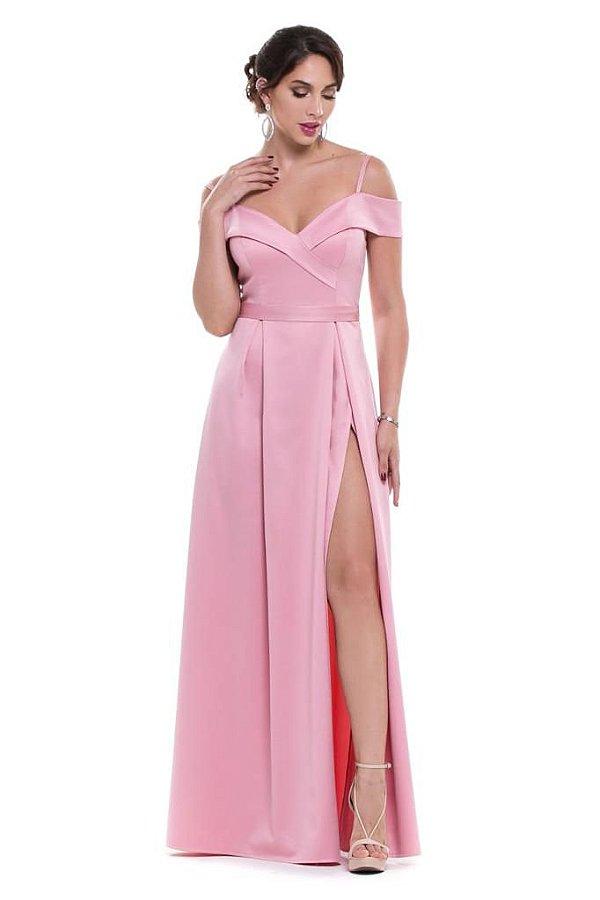 Vestido de Festa Longo Jordana Rosa