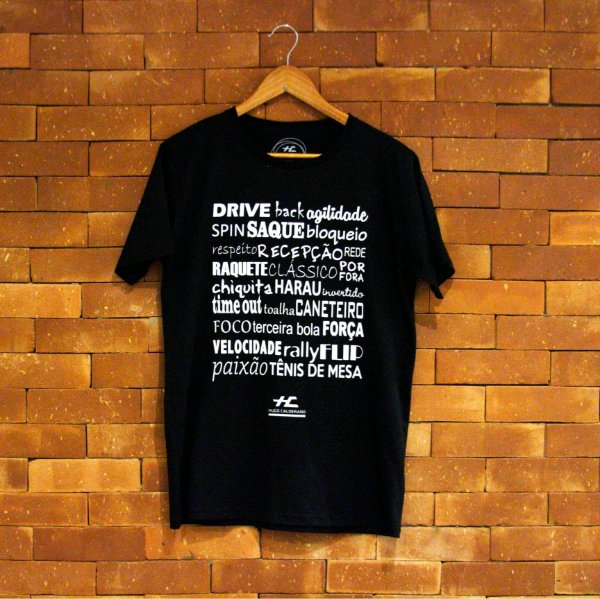 Camiseta Palavras (Preta)