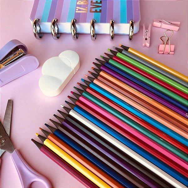 Lápis ecológico 24 cores