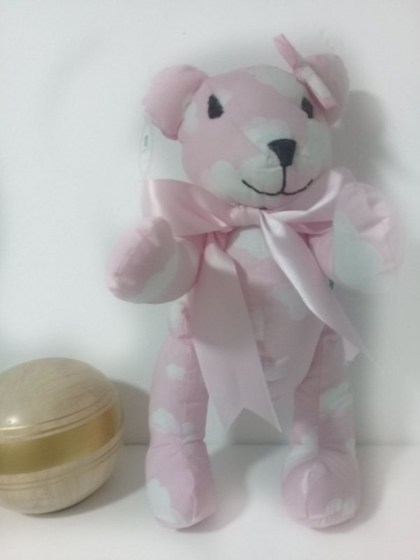 Ursinha de tecido Rosa