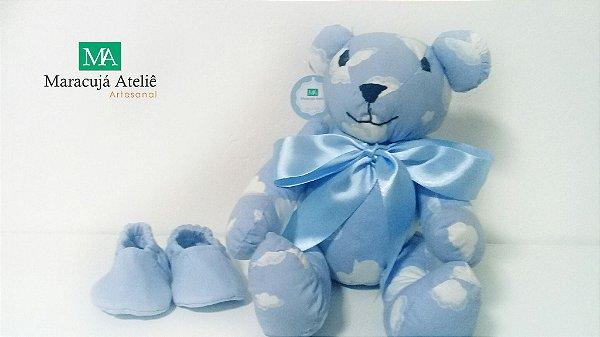 Ursinho de tecido Azul