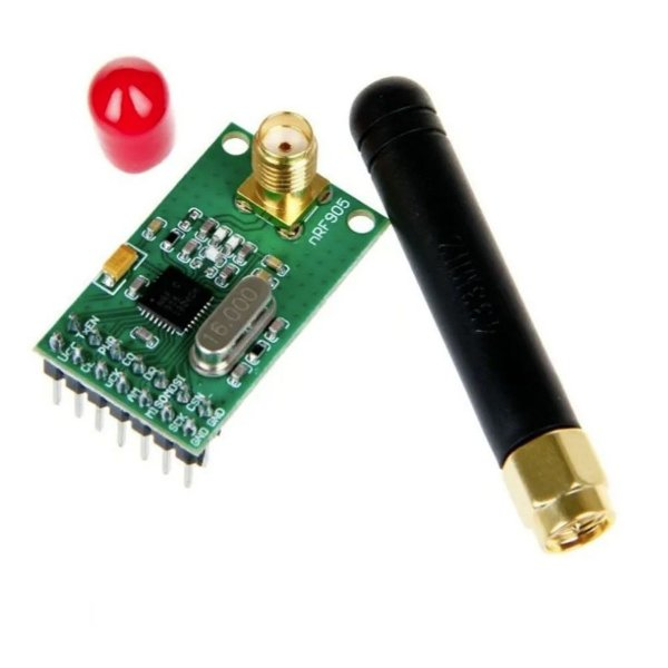 Módulo Wireless + Antena Nrf905 Ptr8000
