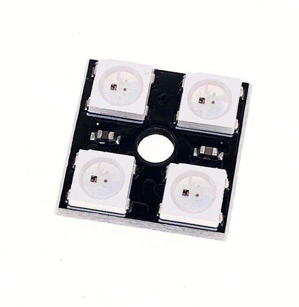 Módulo com 4 Leds RGB WS2812 5050