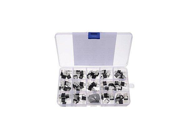 Kit Transistor Regulador de Tensão - 70 Unidades - 14 Valores