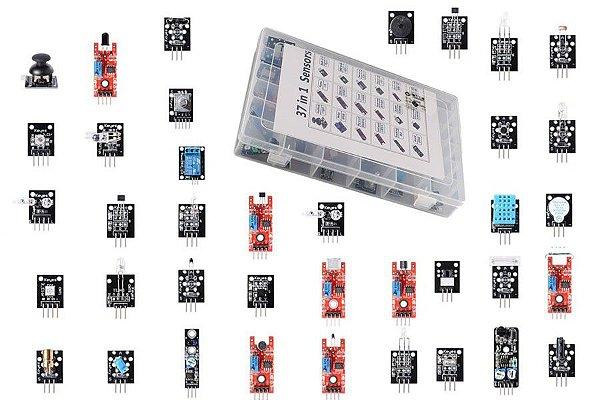 Kit com 37 sensores para Arduino