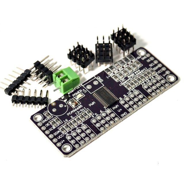 Driver PWM/Servo 16 canais 12-bit com interface I2C