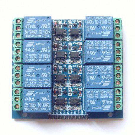 Módulo Relé 8 Canais 5v Quadrado com Optoacoplador