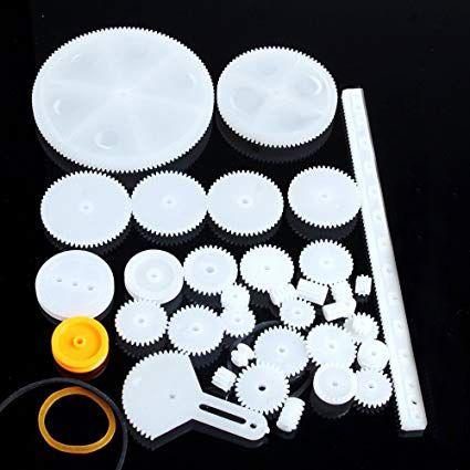 Kit Engrenagens Plásticas com Correias - 40pcs