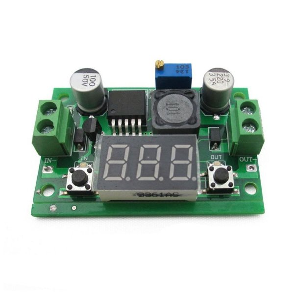 Regulador De Tensão Lm2596 Display Conversor Dc-Dc Step Down