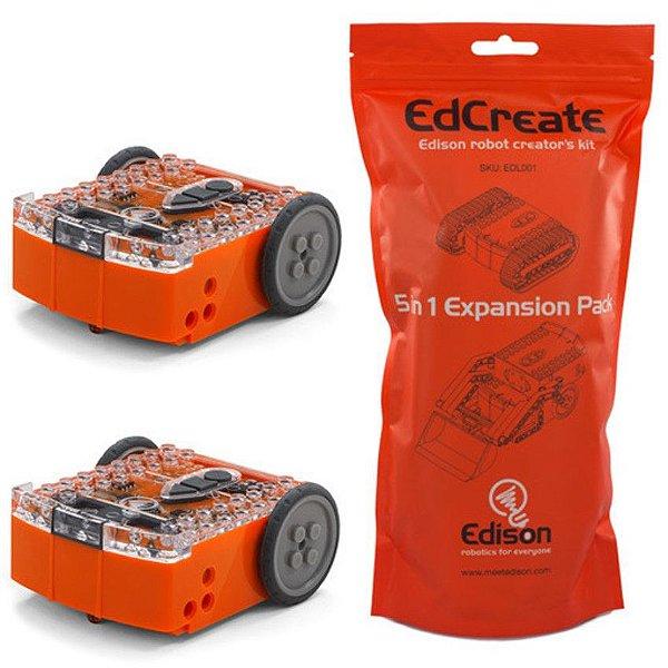 Kit com 2x Edison V2.0 + 1x EdCreate