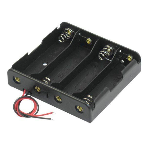 Suporte para 4 Baterias 18650 - SERIE