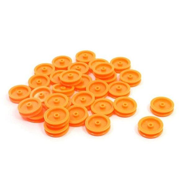 Roda Laranja de Plástico ( pequena ) - 1 unidade