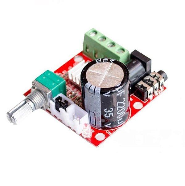 Módulo Amplificador de Som Estéreo PAM8610