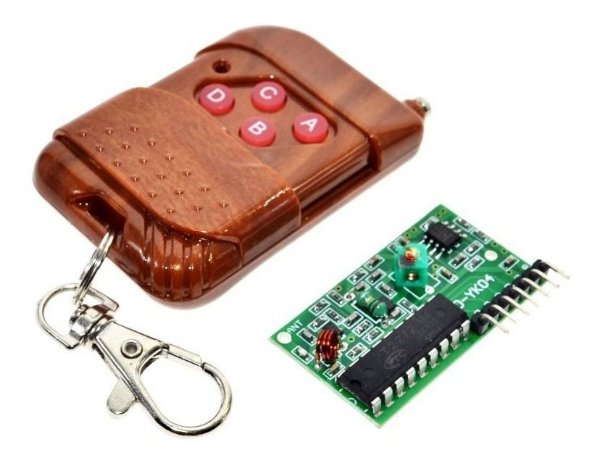 Controle Remoto RF + Receptor RF 433Mhz