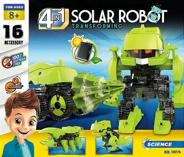 Kit Robô Solar Educacional 4 em 1