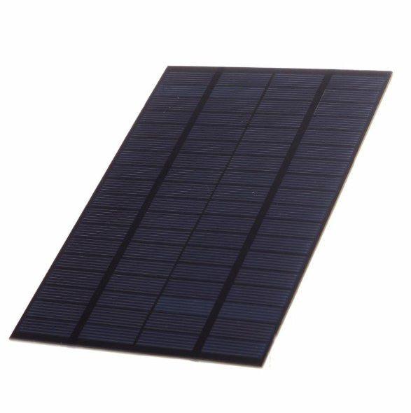 Mini Painel Solar Fotovoltaico 18 x 12cm