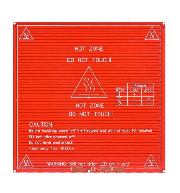 Mesa aquecida MK2B PCB 12V / 24V para Impressora 3D RepRap