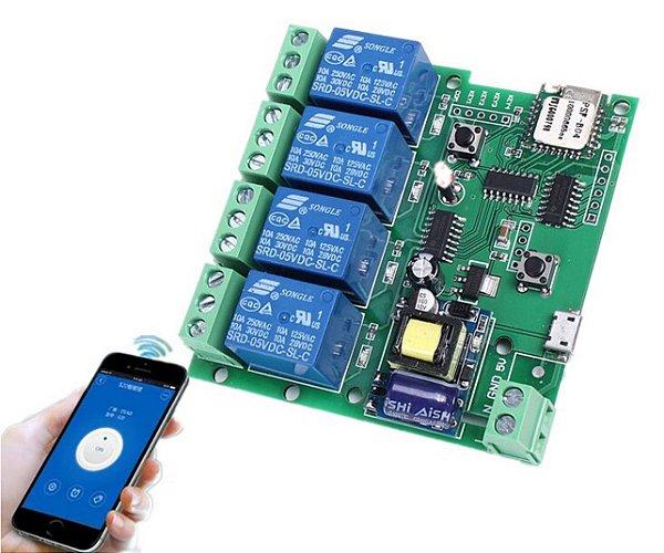 Relé WiFi 4 Canais - 110v/220V
