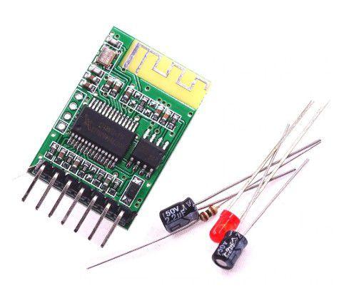 Kit Receptor de Áudio Bluetooth 4.0 - DIY