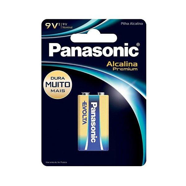 Bateria 9V Alcalina Panasonic - Premium
