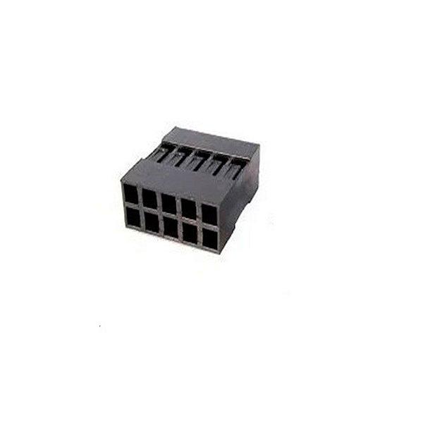 Conector Dupont 2x5 pinos - Fêmea - Sem terminais