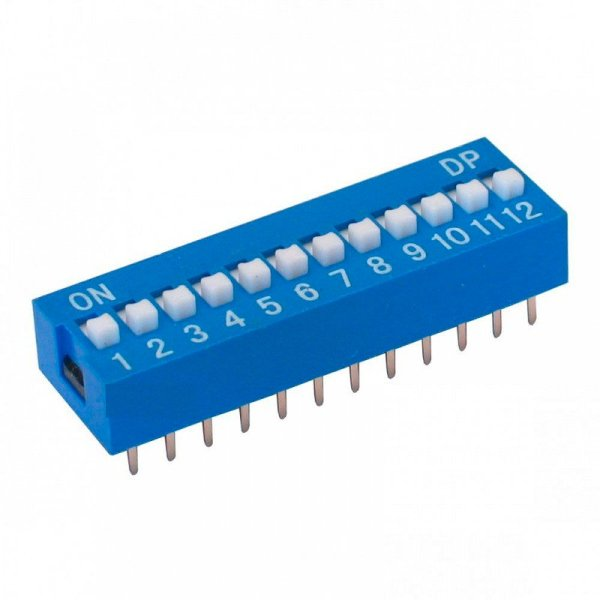 Chave DIP Switch 12 Vias