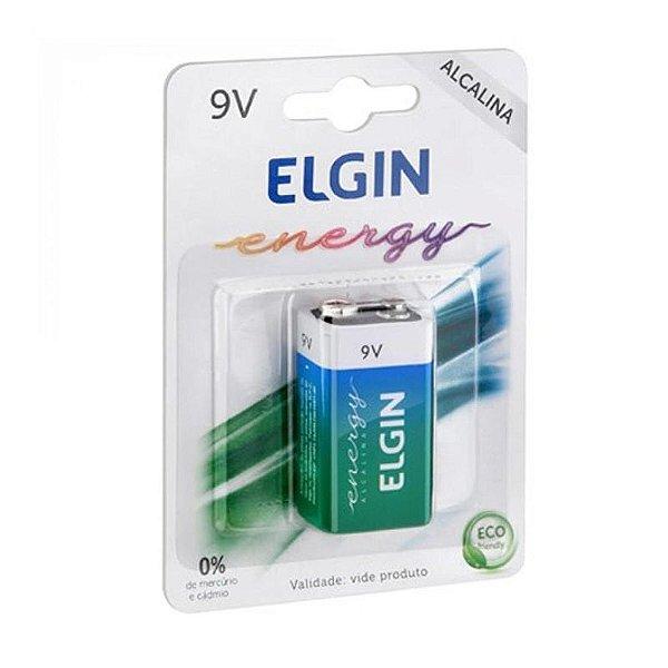 Bateria 9V Alcalina Elgin Energy