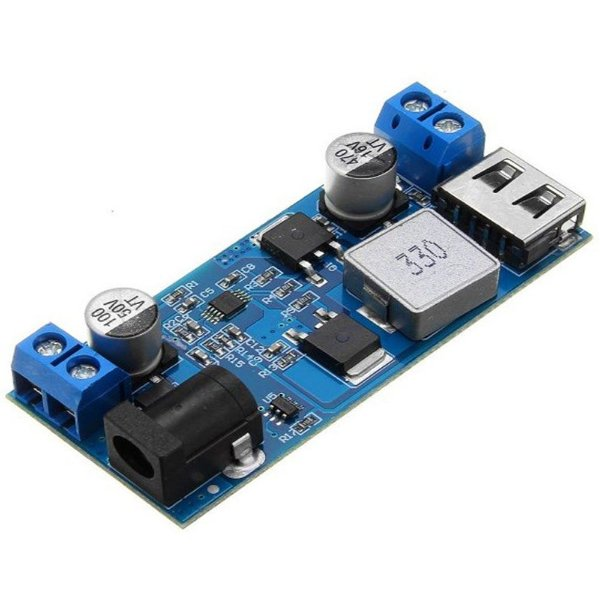 Módulo Regulador de Tensão Step Down Lm2596S 9/36VDC para 5V 5A USB