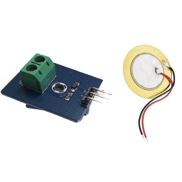 Módulo Sensor de Toque e Vibração Piezo