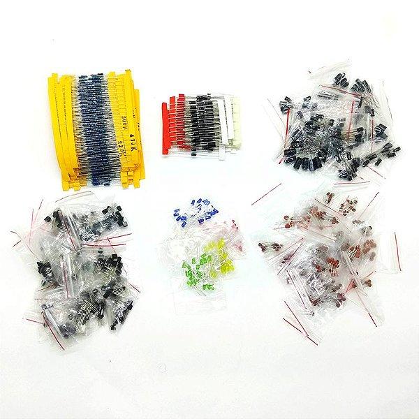 Kit Componentes Eletrônicos - 1.390 peças