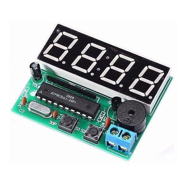 Kit Relógio Eletrônico Digital DIY - com Alarme Buzzer