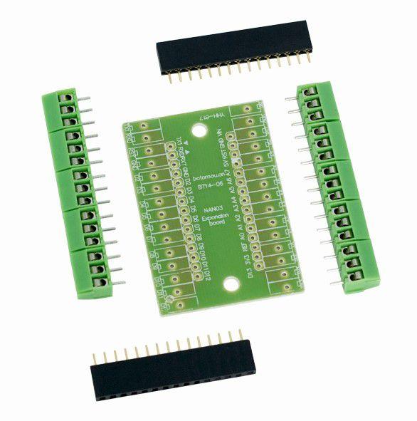 Placa Shield de Expansão para Arduino Nano (Desmontada)