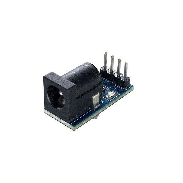 Módulo Conector Jack P4 Femea (J4 2,1mm)