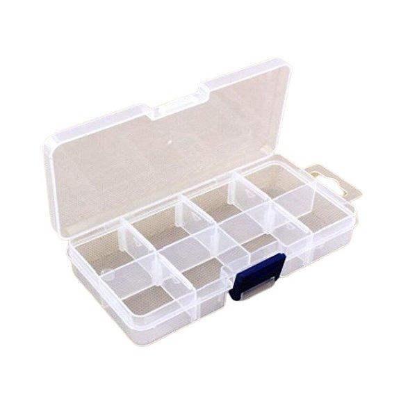 Caixa Organizadora Transparente - 8 divisórias ajustáveis