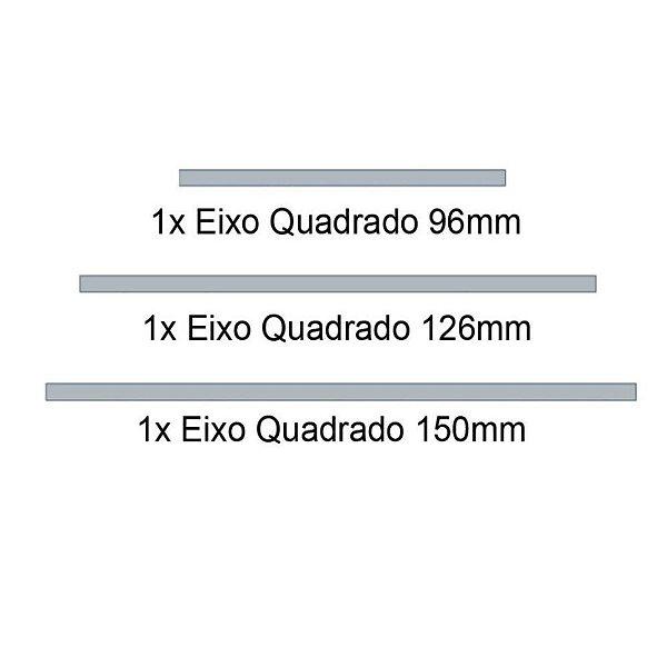 Kit 3 Eixos Quadrados - Modelix
