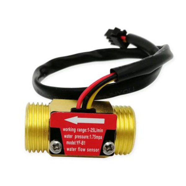 """Sensor de Fluxo de Água 1/2"""" 1–25L/min."""