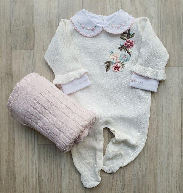Macacão Maternidade - Vida Nova Off white (Somente macacão)