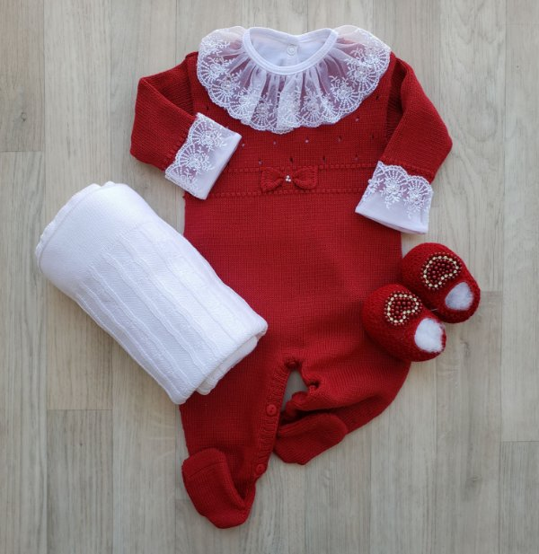 Macacão Maternidade - Helena Vermelho (Somente macacão)
